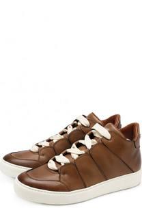 Кожаные кеды на шнуровке Zegna Couture