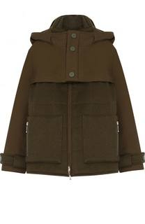Кашемировая куртка с капюшоном и накладными карманами Loro Piana