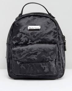 Камуфляжный рюкзак с карманами Claudia Conova - Черный