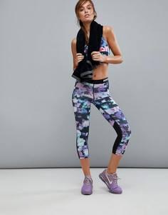 Спортивные капри с цветочным принтом Nike Pro Training - Мульти