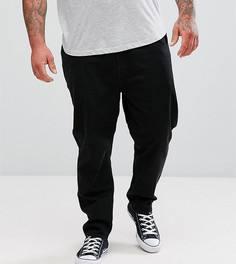 Черные зауженные джинсы ASOS PLUS - Черный