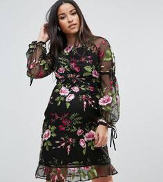 Платье с вышитыми розами ASOS Maternity - Черный