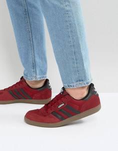 Бордовые кроссовки adidas Skateboarding Leonero BY4054 - Красный