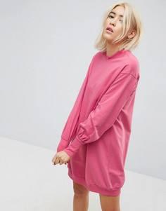 Свободное трикотажное платье ASOS - Розовый