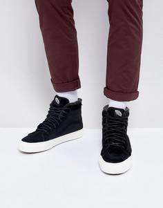Черные высокие кроссовки с молнией Vans SK8 - Черный