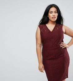 Кружевное платье-футляр Junarose - Красный