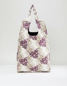 Жаккардовая сумка-шоппер с узлом на ручке ASOS - Мульти