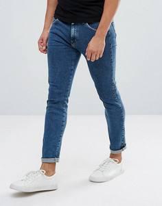 Выбеленные джинсы скинни Wrangler Strangler - Синий