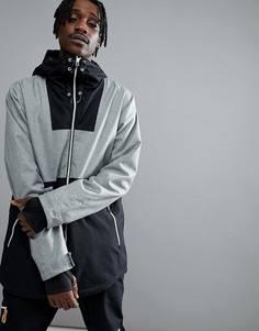 Серая меланжевая горнолыжная куртка Wear Colour - Серый