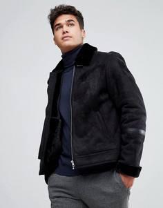 Куртка из искусственной замши с подкладкой Jack & Jones Originals - Черный