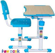 Комплект мебели FunDesk «Piccolino II» стол 66х47 см и стул голубой