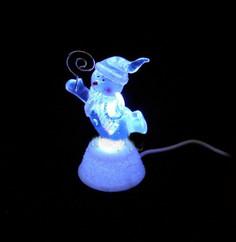 Новогодний сувенир Снеговик с подсветкой и держателем для визиток USB Orient NY5063