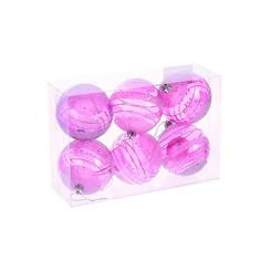 Украшение СИМА-ЛЕНД Набор шаров Пурпурная дымка 6шт 1009389