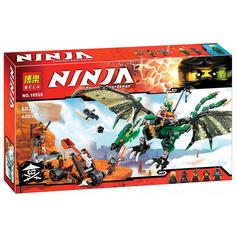 Конструктор Bela Ninjago Зелёный Дракон 603 дет. 10526