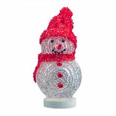 Новогодний сувенир Снеговик с подсветкой USB CBR NY 070