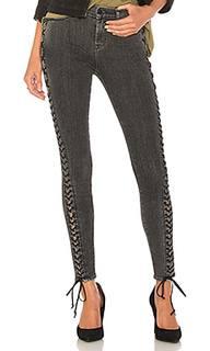 Узкие джинсы на шнуровке the stevie midrise - Hudson Jeans