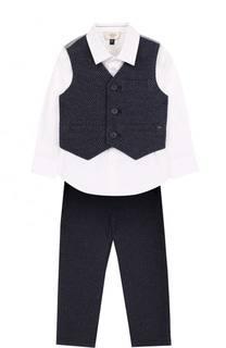 Комплект из рубашки с жилеткой и брюк Armani Junior