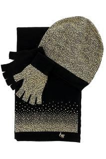 Комплект: шапка, перчатки и шарф Blugirl
