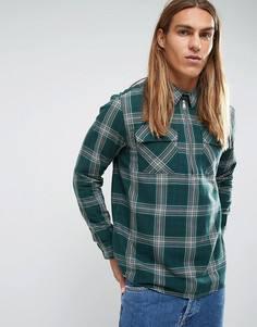 Рубашка классического кроя с короткой молнией Carhartt WIP Portland - Зеленый