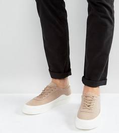Белые кроссовки для широкой стопы ASOS - Светло-бежевый