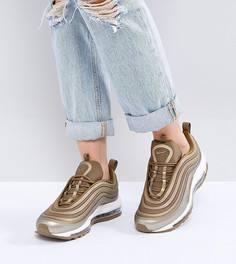 Кроссовки цвета металлик Nike Air Max 97 - Золотой