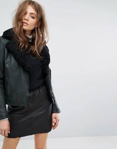 Байкерская куртка на подкладке Goosecraft - Серый