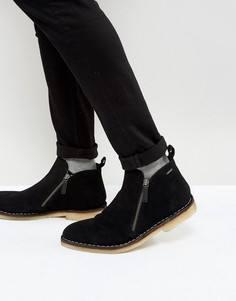 Черные замшевые ботинки на молнии KG Kurt Geiger Otis - Черный