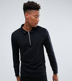 Свободная черная куртка Харрингтон ASOS TALL - Черный