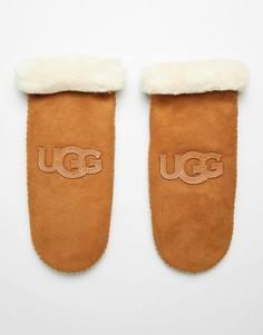 Варежки с логотипом UGG - Рыжий