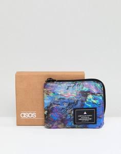 Бумажник на молнии с принтом ASOS - Мульти