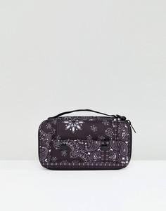 Дорожный кошелек с платочным принтом ASOS - Черный