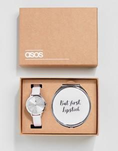 Подарочный набор с зеркальцем и часами ASOS - Серебряный