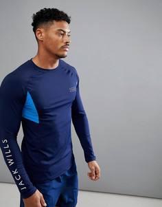 Темно-синий базовый топ Jack Wills Sporting Goods Henworth - Темно-синий