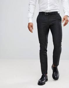 Супероблегающие брюки в горошек Noose & Monkey - Черный