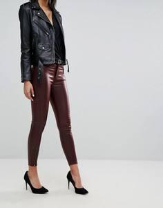 Укороченные джинсы с покрытием и молниями Dr Denim - Красный