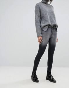 Джинсы с завышенной талией и молниями на штанинах Dr Denim - Черный