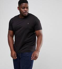 Черная узкая футболка Farah PLUS Farris - Черный