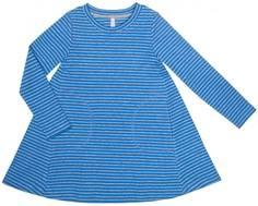 Платье детское Barkito «Северные приключения 1», голубое с рисунком в полоску