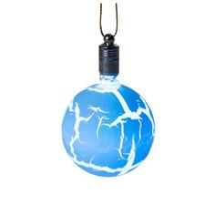 Украшение Luazon Елочный шар узоры краской RGB Blue 2361547