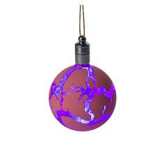 Украшение Luazon Елочный шар узоры краской RGB Red 2361543