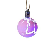 Украшение Luazon Елочный шар узоры краской RGB Pink 2361544