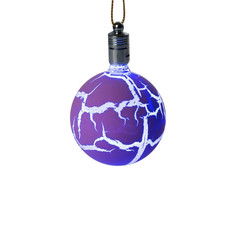Украшение Luazon Елочный шар узоры краской RGB Purple 2361545