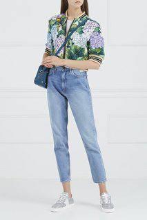 Кожаная сумка с заклепками Dolce&;Gabbana
