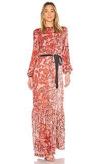 Вечернее платье из выжженного бархата felice - Alexis