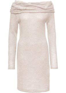 Платье с вырезом-кармен (бежевый меланж) Bonprix