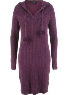 Вязаное платье (цвет бузины) Bonprix