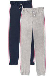 Трикотажные брюки (2 шт.) (темно-синий/светло-серый меланж) Bonprix