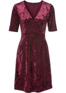 Бархатное платье (бордовый) Bonprix