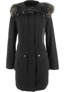 Пальто с вышивкой (черный) Bonprix