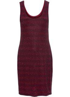 Трикотажное платье с люрексом (бордовый/черный) Bonprix